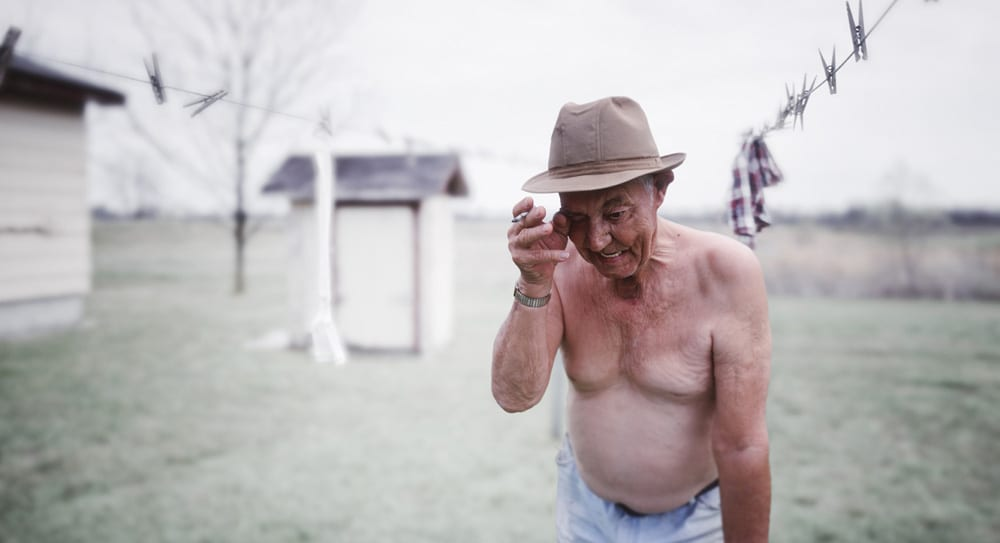 Joe #1 Washingline and cigarette