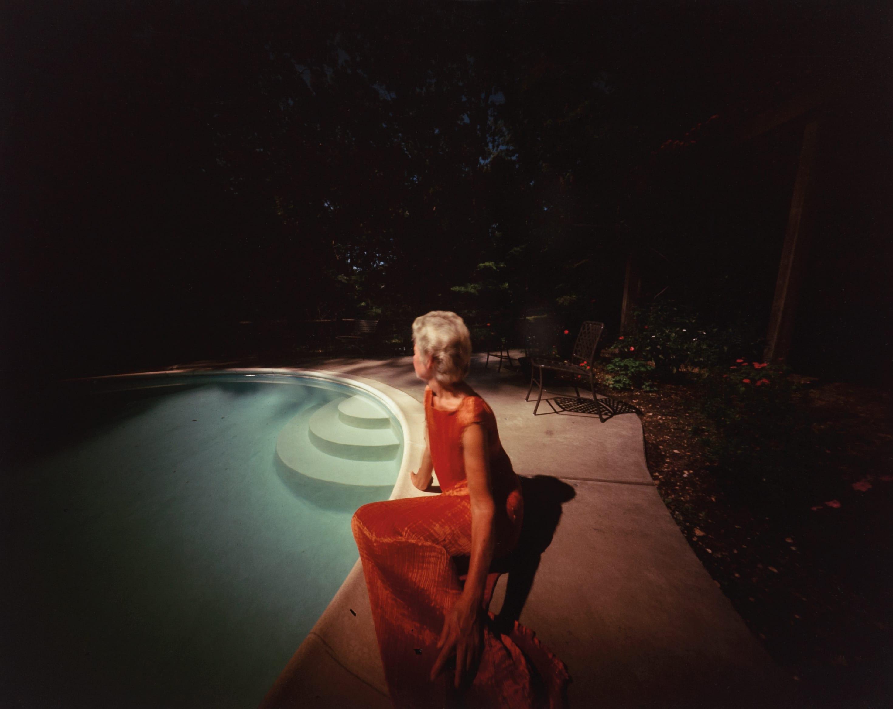 Richmond, Virginia: Joan by Her Pool, 1986